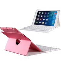 Wholesale Ipad Flip Case Keyboard - Wholesale-Bluetooth Keyboard Case For iPad Air 2 360 Rotating Removable PU Leather Wireless Keyboard Flip Stand Cover Pouch For iPad 6