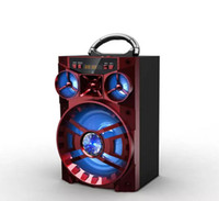 ingrosso grandi diffusori audio-Big Sound HiFi Altoparlanti portatili Bluetooth AUX Altoparlanti Bass Subwoofer per esterni Music Box con USB LED Light TF Radio FM