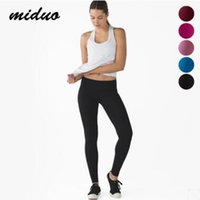 Wholesale Tight Stretchy Leggings Pants - Black Stretchy Lulu Crop Sports Gym Yoga Pants Leggings Compression Training Exercise Pink Skinny Tights Red Fitness Trouser Womens