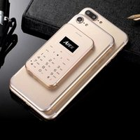 Wholesale Smallest Mini Mobile Phone - 2017 new arrival free shipping i8 mini card luxury cell phone unlocked touch screen mp3 with sport record small mobile phone