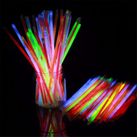 7.8''Multi Color Hot Glow Stick Bracelet Colliers Neon Party LED Flashing Light Stick Wand Nouveauté Toy LED Vocal Concert LED Flash Sticks