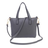 Wholesale Leather Bag Handles Wholesale - Wholesale- High Quality Leather Women Bag Bucket Shoulder Bags Solid Big Handbag Large Capacity Top-handle Bags Herald Fashion New Nov24