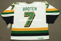 ingrosso personalizzato Throwback Mens NEAL BROTEN Minnesota North Stars 1989 CCM Vintage Home Cheap Retro Hockey Jersey