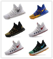 Wholesale Men Kd Shoe Cheap - 2017 Original Quality Kevin KD X 10 Elite Mens Best Basketball Shoes Cheap Free Shipping Durant 10s Training Sport Sneakers Online Sale