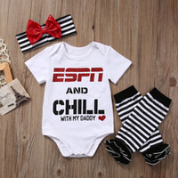 Wholesale Striped Leggings Outfit - New Cute Baby Girls Outfits 3piece Set Cotton Long Sleeves Romper Onesies + Lips Leggings Socks + Red Bowknot Headband 0-24M