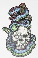 Wholesale Tattoo Stickers Snakes - Wholesale- Hiphop Dance Tattoo Skull and Snake 21 X 15 CM Sized Sexy Cool Beauty Tattoo Waterproof Hot Temporary Tattoo Stickers