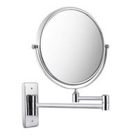 Wholesale Bathroom Accessories Glass Shelf - Bathroom Shelves Strong Suction Holder Shampoo Corner Triangle Shelf Chrome Plate Bathroom Accessory Bathroom Hardware Make Up Mirror +NB