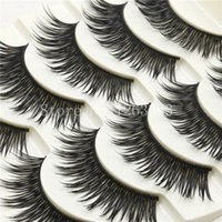 Wholesale Fiber Stripping Tool - 2017 New 600 High-quality Fiber Thick False Eyelashes Handmade Natural Cross False Eyelashes Makeup Tool Long Eyelashes