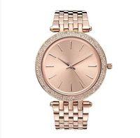 Wholesale new brand red rose resale online - reloj de pulsera rose gold watch woman luxury new brand casual ladies designer watches Diamond bracelet Stainless steel clock gift for women