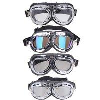 óculos de óculos scooter venda por atacado-Atacado 2017 NEW Vintage estilo motocicleta gafas motocross moto óculos Scooter Goggle Óculos Pilot Cruiser