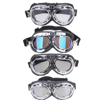 Wholesale vintage motorcycle glasses - Wholesale- 2017 NEW Vintage Harley style motorcycle gafas motocross moto goggles Scooter Goggle Glasses Aviator Pilot Cruiser