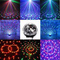 ingrosso illuminazione di piccoli stage-2017 caldo MiNi LED Telecomando Piccola sfera magica AC110-240V 3W Controllo vocale rotante colorato KTV Flash Stage Light