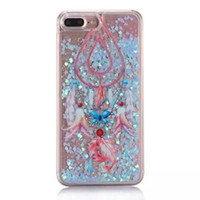 iphone 5s dream achat en gros de-Coloré Dream Catcher Couverture Pour Samsung Galaxy S6 S7 bord Cas Pour iPhone 6S 6 7 Plus 5 5S SE Glitter Liquide Liquides Quicksand Téléphone Cas