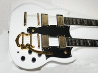Wholesale 12 String Electric Best - Wholesale- Custom Shop White 1275 guitar With tremolo Custom 6 12 Strings Double Neck Electric Guitar Best Selling China Factory Outlet