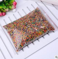 Wholesale Magic Water Beads Wholesale - HOT 1000g Crystal Soil Water Beads Mud Magic Jelly Balls Pearl Shaped Plant Breed Home Decor Water Swelling Toy Free Shipping