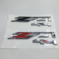 Wholesale 4x4 Chrome - Chrome for GMC Chevy Silverado Sierra Tahoe Suburban Z71 4x4 Emblem Car Body Sticker