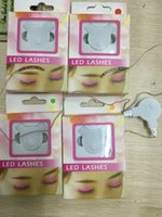 Wholesale Concert Packages - LED Eyelashes Women Sparkle F. Lashes Interactive For Party Concert Festival Gift Female Eyelash With Retail Package Cradle