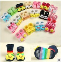 Wholesale Black Shoe Baby Socks - Baby Kids Anti-slip Socks 3D Cartoon Baby Animal Socks Newborn Baby Boys Outdoor Shoes Infant Girls Anti-slip Walking Socks 18 Styles