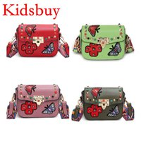 Wholesale Cute Purses For Kids - Kidsbuy Unique Design Butterfly Shoulder Bags for Teenagers Baby Girls new Purse Messenger Bag Woman Small outdoor bag Kids Cute bags KB023