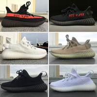 Wholesale V3 Black - 2017 Top Quality Boost Sply 350 V2 Cream All White 350 V3 Triple Black White Blade Dark Green Kanye West Sneakers Running Shoes