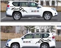 ingrosso adesivi per auto suv-Un Set SUV auto Camion auto 4x4 montagna Styling Vinyl Car Body Sticker Decalcomanie linea vita