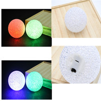 Wholesale Baby Nursery Toys - LED Children Baby Night Light Ball Toy Nightlight Desk Lighting for Kids Nursery Bedroom Lamp with 7 colors lights 2 Models to choose