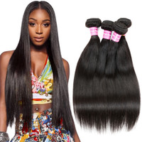 Wholesale Cheap Black Hair Pieces - Brazilian Human Hair Weave 4 Bundles Brazilian Cambodian Soft Virgin Hair Straight Cheap Remy Human Hair Unprocessed Nature Black By Cosy