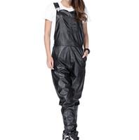 ropa urbana swag al por mayor-Nueva llegada Moda Hombre Mujer Hombre Hiphop Hip Hop Swag Pantalones de cuero negro Jogger Ropa urbana Ropa Justin Bieber