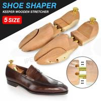 Wholesale Wood Shoe Stretchers - Adjustable Men Women Cedar Wood Shoe Tree Shaper Wooden Stretcher Twin Tube