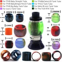 Wholesale Tanks For E Cigs - Top Epoxy Resin Expansion Replacement Tubes for Cleito120 SMOK TFV8 Big Baby TFV12 iJust2 Melo III mini Tank The Troll RTA e cigs Atomizers