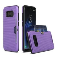 Wholesale Metalic Case - For LG G5 G6 V20 Case Metalic Hybrid Cover Card Holder Slot Phone Cover For iphone7 PLUS Samsung S8 S8 Plus Galaxy S7