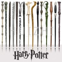 Wholesale Popular Harry Potter Magic Wand Non Luminance Hermione Ron Voldemort Narcissa Canes Peripheral Props Wands Film Ashplant Hot rt