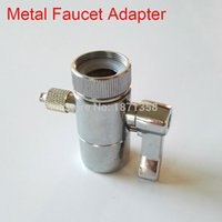 Wholesale Dental Adapter - Wholesale-Chrome Plated Oral Irrigator Accessories Metal Faucet Adapter Diverter Valve Switch for Dental SPA Floss equipment