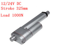 Wholesale dc linear actuators - 13inch (325mm) stroke 12v dc linear actuators with potentiometer, 1000N  225LBS force linear motor