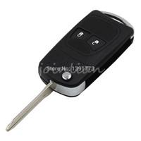 Wholesale Dodge Keys Blank - car Remote Folding Key Flip Shell Case Uncut Blank For Chrysler Dodge Jeep 2 Buttons Free Shipping