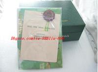 yeni hediye kağıdı toptan satış-YENI Yüksek Kaliteli İzle Kutusu Yeni Stil Yeşil Orijinal Kutusu Kağıtları Deri Çanta Hediye Kutuları Izle Kutusu Yeşil