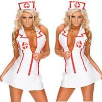 униформа для медсестер оптовых-Косплей сексуальное женское белье женщины горячая медсестра равномерное Тедди эротическое белье сексуальная горничная костюмы сексуальное порно babydoll белье бесплатная доставка