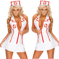 Wholesale Lingerie Maid Teddies - Cosplay sexy lingerie women hot nurse uniform teddy erotic lingerie sexy maid costumes sexy porn babydoll lingerie free shipping
