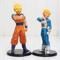 2pcs / set 18-20cm Dragon Ball Z Figurines d'action Son Goku Super Saiyan Vegeta Dragonball Z Figurines en PVC Jouets