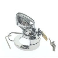 Wholesale Stainless Steel Chastity Double Ball - 2017 stainless steel Penis Ball Stretcher and chastity device Double efficacy sex toy adult sex toy