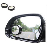 miroirs spot convexes achat en gros de-2pcs / SET universel conducteur 2 côté grand angle Wideangle autocollant rond convexe de voiture miroir de véhicule angle mort Auto RearView pour toute voiture