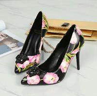 Wholesale korean sexy high heels - women pumps spring color ultra high heels female fine pointed shoes Korean shoes all-match sexy shoes Asakuchi thin heels iron dress women