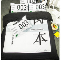 Wholesale Checked Bedding Sets - Japan Bedding Set Bedding Home Textiles Bedclothes Set Fashion bedclothes pillowcase linen Comforter Cover Free shipping