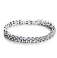 Wholesale Swarovski Crystal Sterling - 925 sterling silver crystal jewelry charm bracelets swarovski elements Rhinestone chain fashion vintage wedding top quality