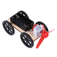 1 Pc ABS Plastic Assemble Wind-up Toy Car Kids Tecnologia de madeira Educacional DIY Wind Powered Intellectual Auto Toys