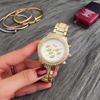 Wholesale Elegan Fashion - 3 Color Hot Sale Fashion Elegan Women Diamond Analog Quartz Wrist Watch Watches relogio feminino Gift 2017