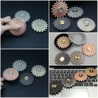 Wholesale Skateboard 12 Wheels - New Pattern Solid Color Lotus Flower Fidget Spinner Finger Zin Alloy Metal EDC Hand Spinner For Relief Anxiety Wheel Toys