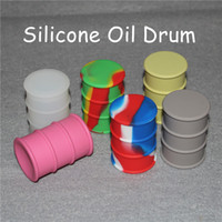 Wholesale Silcone Toys - Silcone Oil Drum Barrel Container 26ml Non-stick silicone oil can For Wax Silicone Jars Dab Wax Container with MOQ 20pcs