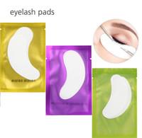 verdünnende wimpern großhandel-Dünne Hydrogel Augenklappe für Wimpernverlängerung unter Augenklappen fusselfreie Gel-Pads Feuchtigkeits-Augenmaske OOA2153