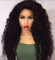 "Wholesale kinky big hair wig - Glueless Full Lace Human Hair Wigs Kinky Curly Lace Front Wigs 100% Unprocessed human brazilian virgin hair For Black Women 8-24"" In Stock"